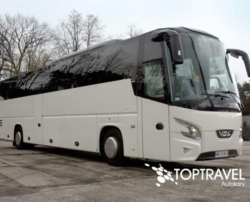 Wynajem Autokarów VDL New Fututa TOP TRAVEL Warszawa