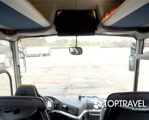 Wynajem Autokarów Warszawa Polska TOP TRAVEL MAN wnętrze