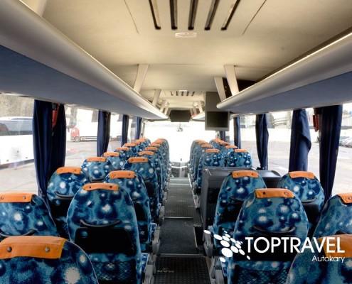 Wynajem Autokarów Warszawa Polska TOP TRAVEL MAN fotele