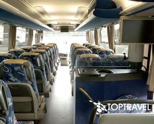 Wynajem luksusowych autokarów VDL New Futura - TOP TRAVEL -wnętrze 2