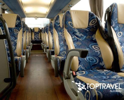 Wynajem luksusowych autokarów VDL New Futura - TOP TRAVEL -rozkładane fotele