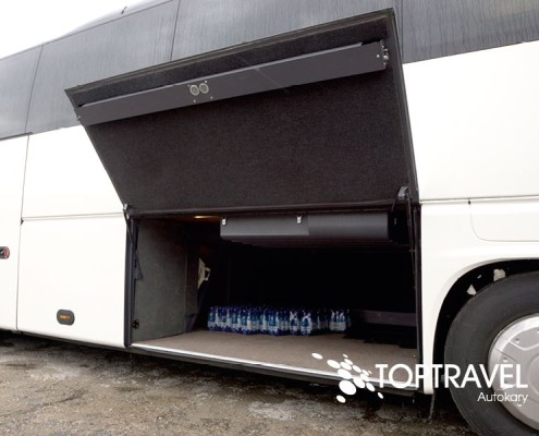 Wynajem luksusowych autokarów VDL New Futura - TOP TRAVEL -bagażnik