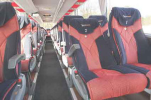 Coach hire Warsaw - Comfortable seats - Mercedes Tourismo