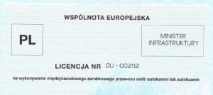 licencja przewozy miedzynarodowe