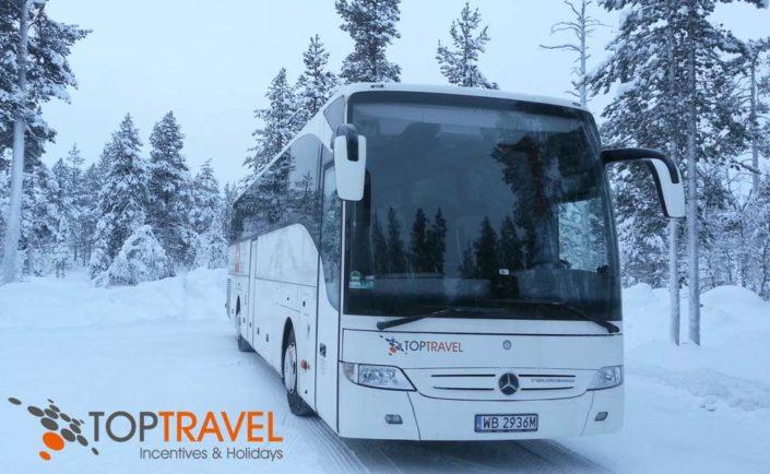 Autokar TOP TRAVEL na wyjeździe narciarskim