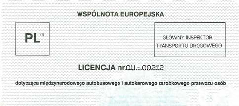TOP TARVEL licencja przewozy miedzynarodowe